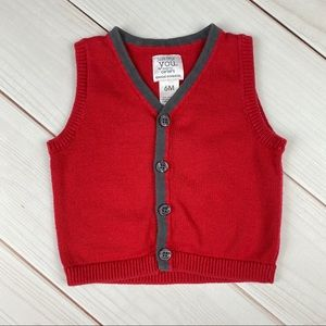 * Bundle Only* Carters | Red Sweater Vest